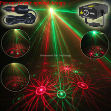 New Car use plug mini RG laser Projector whirlwind 4 patterns Light field outdoor garden Park Party effect Stage Light Show CR1