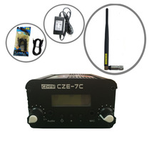 CZH CZE-7C 7W FM stereo PLL broadcast transmitter 76-108MHZ +rubber antenna kit(China)