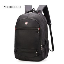 MEIJIELUO Fashion Backpack Black Laptop Multifunction Rucksack Backpack 15.6 inch Computer Bag Oxford Waterproof Backpacks