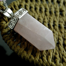 5pcs Pink Quartz Stocky Crystal Point Shape Pendants For For Jewelry Making Materiasl Free Shipping