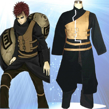 High Quality Custom Made Gaara Cosplay Costume (2rd cartoon black version) from Naruto Shippuuden Anime Plus Size (S-6XL)