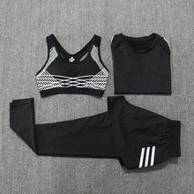 Yoga Set Women Gym Clothes 3 Pieces Fitness Suit Training Femme Gym Clothes Women Loose Sport Outfit Push Up Jogging Women Set