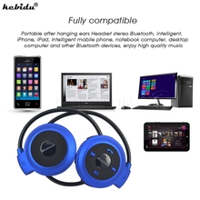 kebidu 2017 Fashion sport bluetooth wireless headphones Music Stereo Bluetooth Earphones for smart phone,Computer PC,laptop(China)