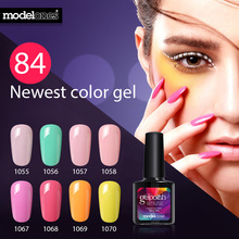 Modelones 10ML Salon Nail Gel Lacquer Long Lasting Nail Art UV Gel Polish Blue Color Series UV Nail Polish Varnishes(China)