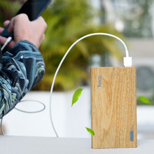 13000mAh Power Bank wooden color LED indication portable charge case for mobile phones, tablet PC for outdoors/camping/explore(China)