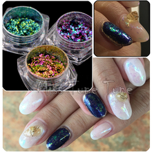 1 Box Galaxy Nail Glitter Dust Starry Sky Chameleon Sequins Shiny Nail Sparkle Powder Flakes Nail Art Decorations