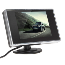 New Arrival Mini 3.5'' TFT LCD Car Monitor Parking Car Rear View Reverse Car Monitor For Rearview Camera DVD 2Ch Video Input