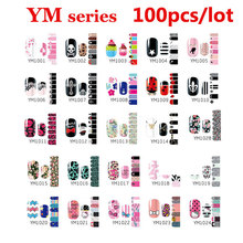 100 unids Autoadhesivas Nail Art Sticker Wraps Patch Láminas Decoración de Uñas Con Estilo DIY Materiales de Arte de Uñas Al Por Mayor