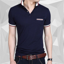 Cotton camisa Men Polo Shirt Europe and America fashion Casual Slim short sleeves Polo Shirts BIG SIZE M-5XL(China)