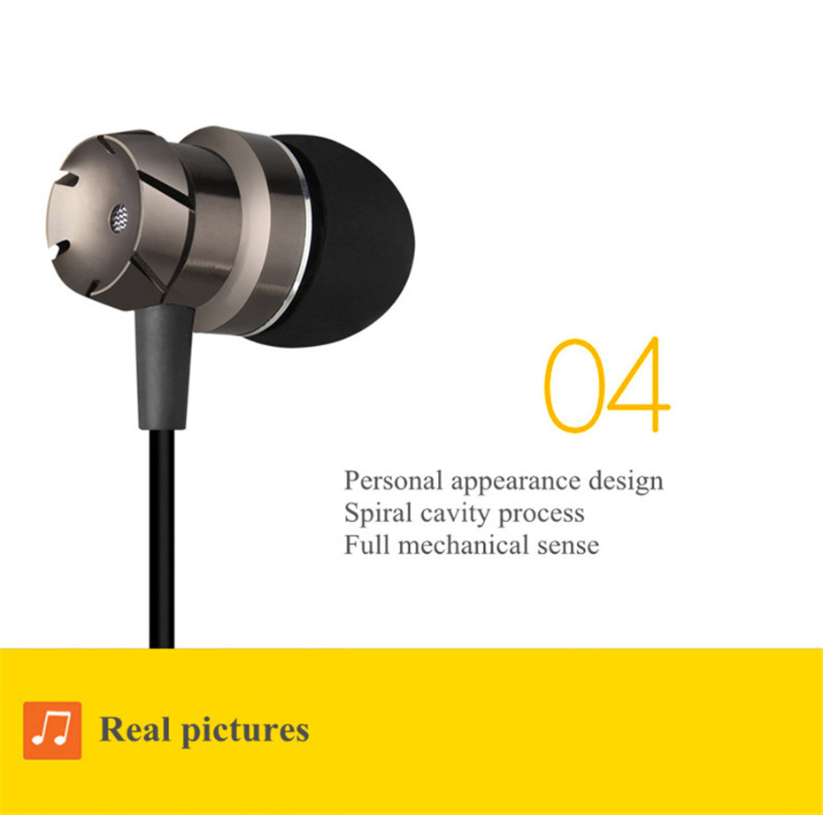 ME30 Metal Earphones Sports Noise Cancelling Headphones for Phone Stereo Headset with Mic for Xiaomi Computer iPHone (6)