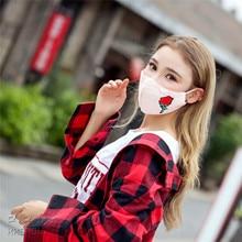 Rose embroidery mask fashion personality breathable women maschera di protezione autumn winter warm Anti-bacterial Dust masks