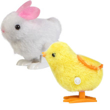 New Infant Child Toys Hopping Wind Up Easter Chick and Bunny Rabbit Chick Soft toys for baby children wholesale