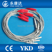 Copper pipe 1.5 eeg cable for medical,5 leads/set,CE&ISO13485 proved Manufacturer,free shipping
