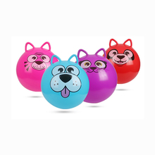 45cm Kids sports Inflatable Toy Plastic Ball PVC bouncing Cartoon Cat Ball Children Baby girl and boy Christmas party gift(China)