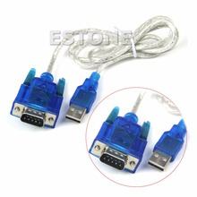 USB to RS232 Serial Port 9 Pin DB9 Cable Serial COM Port Adapter Convertor #R179T#Drop Shipping