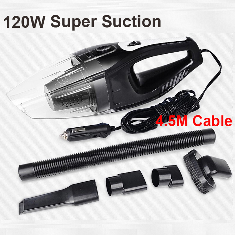 Auto Accessories Portable 120W 12V Car Vacuum Cleaner Handheld Mini Super Suction Wet And Dry Dual Use Vaccum Cleaner For Car(China)