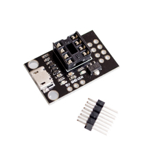 Pluggable Development Board For ATtiny13A/ATtiny25/ATtiny45/ATtiny85 Programming Editor Micro Usb Power Connector