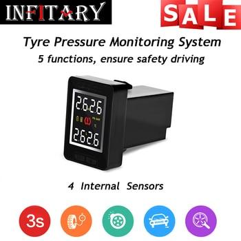 U912I TPMS кнопка стиль Беспроводной давления в шинах сигнализация с 4 внутренний датчик tpms мониторинга Для Toyota, Mazda, Nissan, Honda