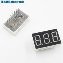 2PCS 0.56 Inch 3 Digit 7 Segment Common Cathode Red Led Display(China)