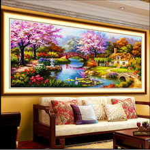 100% Full Resin Craft Diamond Painting 5D DIY Landscape Mosaic Kit Embroidery Cross Stitch Needlework Home Decoration