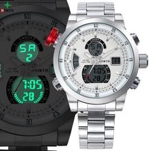 Новый north марка часы мужские дата день дисплей роскошные спортивные часы цифровые военные мужские кварцевые наручные часы relogio masculino