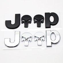 3D Metal JEEP Premium Car Side Fender Rear Trunk Emblem Badge Sticker Decals Chrysler Jeep