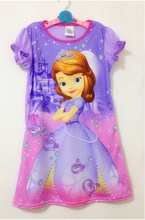 Big Girls clothes sofia princess party dress for children Clothing summer cotton casual Night Dresses Children Wear 3-14 years
