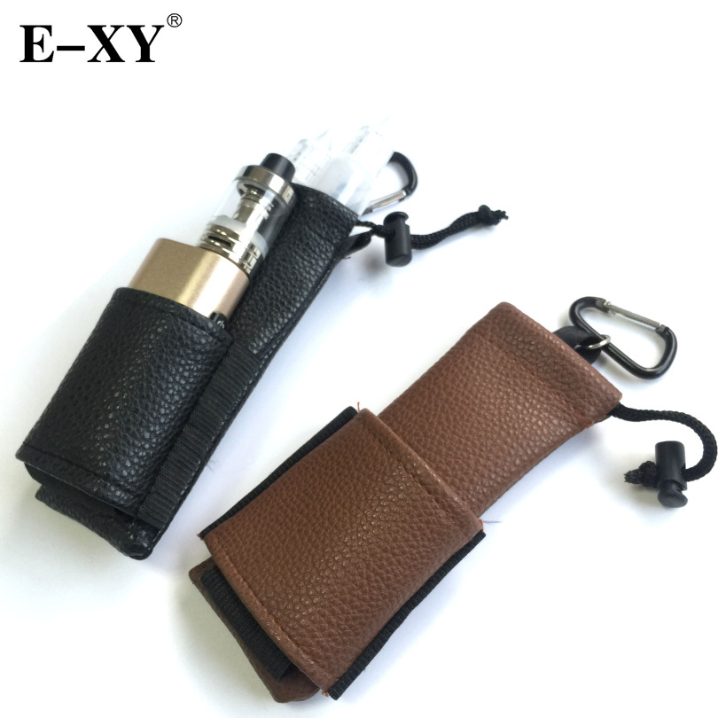 E-XY Vapor Carry Pouch Bag e cigarette PU Leather Ego Bag Carring Pouch Pouch Hook Mechanical Mod Box Vape Bottle
