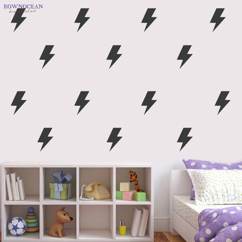 40Pcs/set DIY Children's Wall Stickers Dome Decor Nursery Decoration Kids Baby Room Lightning Vinyl Removable Muurstickers N810(China (Mainland))