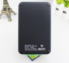 USB 3.0 Wifi HDD Enclosure with Wif router and Power Bank,it is aslo a large capacity mobile storage Device disque dur wifi(China)