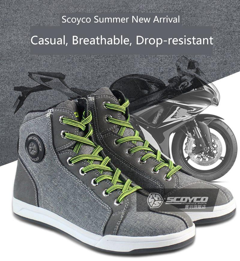 Schutzausrüstung Motorrad-stiefel 100% Original Scoyco Marke Mt016 Motorrad Schuhe Sport Casual Stiefel Männer Motorrad Racing Botas Motocross Radfahren Stiefel