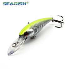 2PCS 2017 Winter fishing lures minnow 10colors 9.5cm 8g 3d eyes bionic bait plastic lures pesca isca mosca wholesale FT0845
