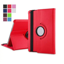 Magnetic Smart Cover Leather Case for ipad mini 4 with 360 Degrees Rotating Stand Tablet Accessories S4C28D(China)