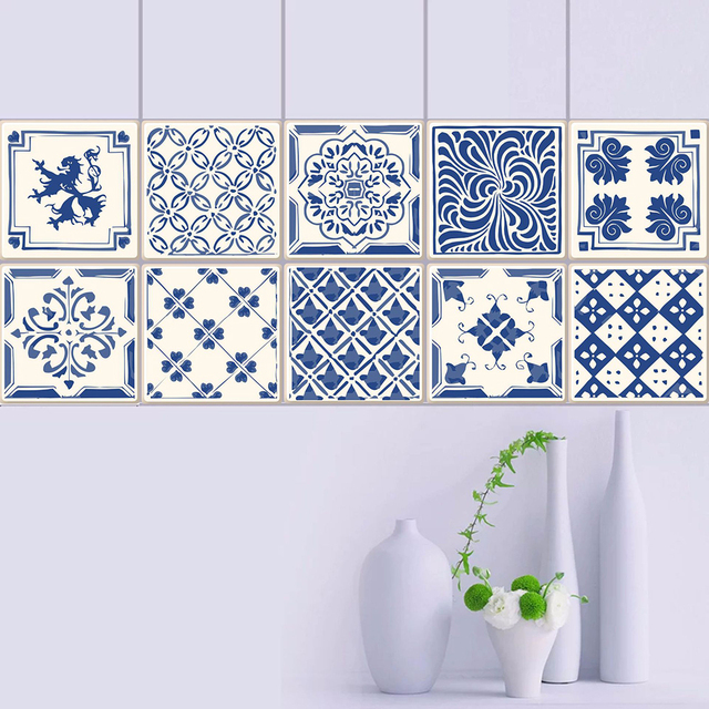 Aliexpress Com Buy Europe Tiles Wall Stickers For Bathroom Kitchen