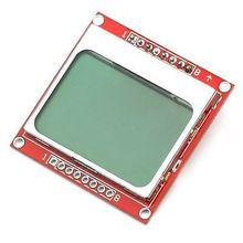 84X48 84*48 Nokia 5110 LCD Module with blue backlight adapter PCB(China)