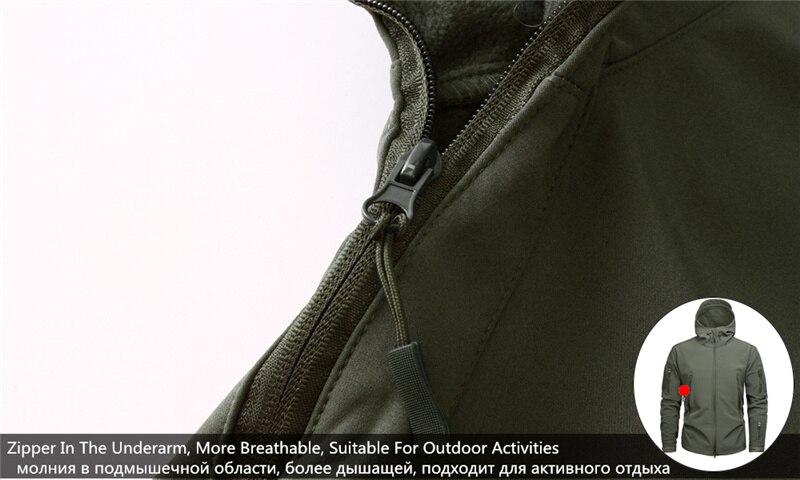 Mege Shark Skin Soft Shell Military Tactical Jacket Men Waterproof Army Fleece Clothing Multicam Camouflage Windbreakers 4XL 16