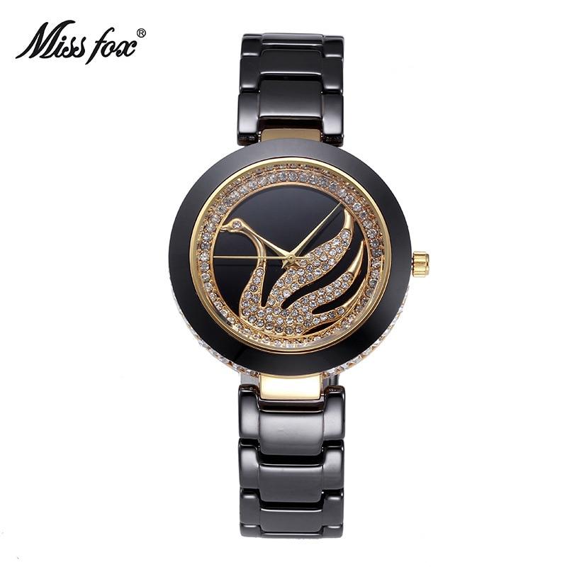 Miss Fox Brand Luxury Fashion Casual Quartz Ceramic Watches Lady  Women Wristwatch Girl Dress Female Clock relojes mujer<br>