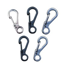 5pcs/lot Spring Buckle Snap Alloy Nickel-free Plating Mini Key Ring Carabiner Bottle Hook Paracord Camping Accessories