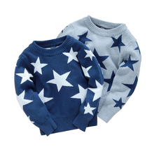 free shipping Male  child sweater, five-pointed star sweater pullover autumn  winter children's clothing baby boy clothes