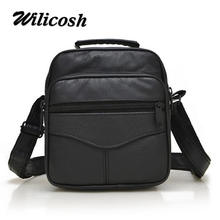 Wilicosh Brand Genuine Leather man handbags Business Men's Messenger Shoulder Hand Bags Casual Briefcases Men Travel Bags WL608