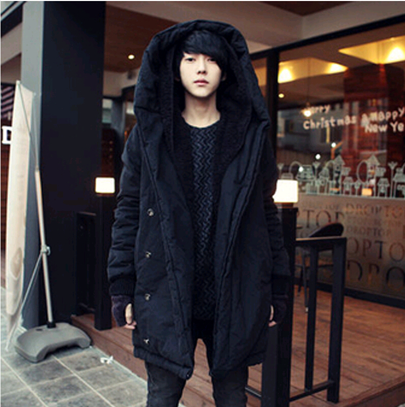 2017 Harajuku Brand Fashion Koren Warm Parka Winter Jacket Men Coat Mens Jackets And Coats Long With Hood 3l In Parkas From S