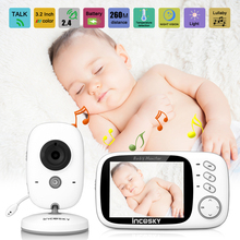 Incosky 3.2 LCD Digital Wireless 2.4 GHz Baby Monitor Video Nanny Security Camera 2 Way Talk Night Vision Lullabies Radio EU