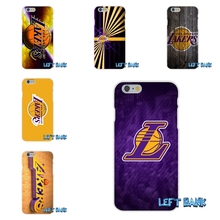 For LG Spirit G2 G3 G4 G5 K4 K7 K8 K10 V10 V20 Mini los angeles lakers basketball team logo Soft Silicone TPU Transparent Case