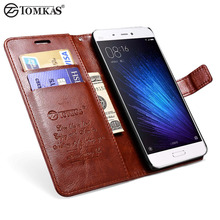Leather Wallet Case For Xiaomi Mi5 Mi 5 Coque Luxury Stand Flip Phone Bag Cover For Xiaomi Mi5 / Mi5 Pro/ Mi5 Prime Cases TOMKAS
