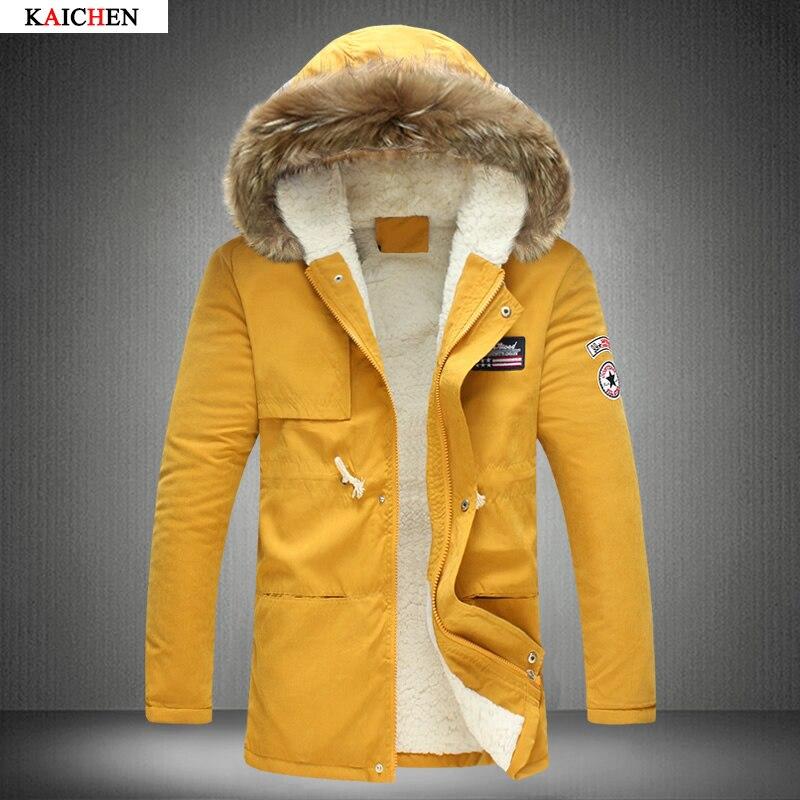 Free shipping Fashion parkas men military medium-long winter coat men thickening cotton-padded winter jacket men with fur hood Îäåæäà è àêñåññóàðû<br><br>