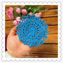 2016 new crochet fabric doilies placemat tableware for home decoration felt 30 pic/lot 11 cm round pad coaster tea cup holder