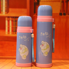 Keelorn 500ml stainless steel water bottle 2017 new fashion cartoon bullet creative fashion thermal insulation water bottle