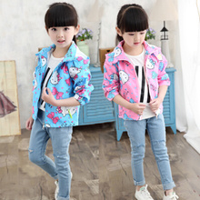 2016 Autumn Baby Girls Casual Jacket Coat Childrens Spring Jackets With Hood Waterproof Windproof Outerwear 11Colors 2--7 Years(China)