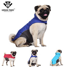 Urban Paws Waterproof Dog Coat Jacket Fleece Lined Raincoat Outdoor Pet Clothes for Pugs Husky Bull Dogs  S-XXL