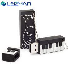 LEIZHAN Cute Piano Shape USB Flash Drive 4gb 8gb 16gb 32gb 64g Pendrive storage flash disk USB2.0 pen drive Memory Stick U Disk
